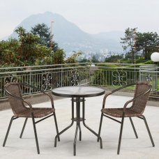 Комплект дачной мебели Афина Мебель Асоль-1C TLH-037B-R3/TLH060-D60 Brown 2Pcs