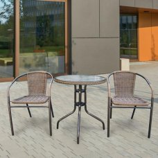 Комплект дачной мебели Афина Мебель Асоль-1A TLH-037AR2/060RR-D60 Cappuccino 2Pcs