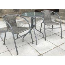 Комплект дачной мебели Афина Мебель Асоль-1G CDC01/CDT01-D60 Grey 2Pcs